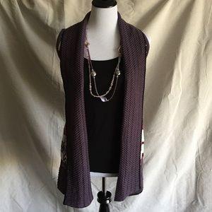 Purple Tribal Sweater Vest | BCBG MaxAzria